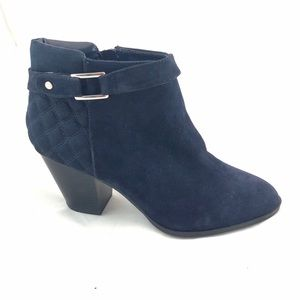 ALFANI Navy Blue Suede Side Buckle Ankle Boots -9M